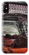 Eiffel Tower Surreal Photo Red Trees Paris France IPhone Case