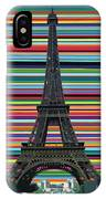 Eiffel Tower With Lines IPhone Case