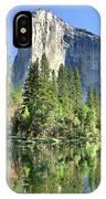 El Capitan Over The Merced River - Yosemite Valley IPhone Case