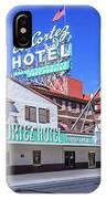 El Cortez Hotel On Fremont Street 2.5 To 1 Ratio IPhone Case