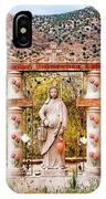 El Santuario De Chimayo Sculpture Garden 3 IPhone Case