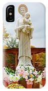 El Santuario De Chimayo Sculpture Garden 5 IPhone Case
