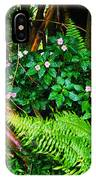 El Yunque National Forest Ferns Impatiens Bamboo IPhone Case