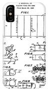 Electric Football Patent 1955 IPhone Case