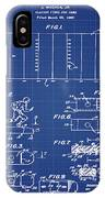 Electric Football Patent 1955 Blueprint IPhone Case