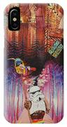 Electric Forest-people Building Houses In The Trees IPhone Case
