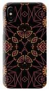 Electric Pink Folk Fresco IPhone Case