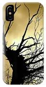 Electric Tree Black And Gold IPhone Case