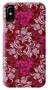Elegant Red Floral Design IPhone Case