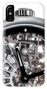 Elegant Watch With Visible Mechanism, Clockwork Close-up. IPhone Case