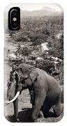 Elephant And Keeper, 1902 IPhone Case