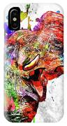 Elephant Colored Grunge IPhone Case