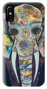 Elephant Mixed Media 2 IPhone Case