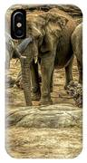 Elephants Social IPhone Case
