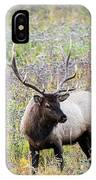 Elk In Wildflowers #1 IPhone Case