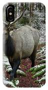 Elk In Winter IPhone Case