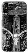 Elk Skull In Black And White IPhone Case