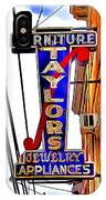 Ellicott City Taylor's Sign IPhone Case