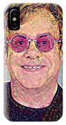 Elton John Triangles Portrait IPhone Case