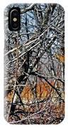 Elusive Woodcock's Woody Environment IPhone Case