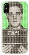 Elvis Army Mug Shot - Green IPhone Case