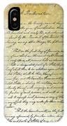 Emancipation Proc., P. 1 IPhone Case