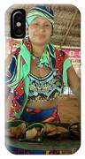 Embera Indian Lady Serving A Meal IPhone Case