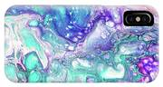 Emerald And Amethyst  Fragment 9.  Abstract Fluid Acrylic Painting IPhone Case