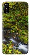 Emerald Falls And Creek In Autumn  IPhone Case