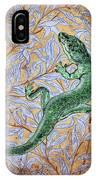 Emerald Lizard IPhone Case