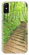 Empire Bluffs Trail Steps In Michigan IPhone Case