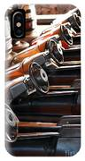 Empty Aligned Bumper Cars IPhone Case