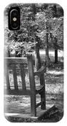Empty Park Bench IPhone Case