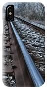 Empty Railroad Tracks IPhone Case