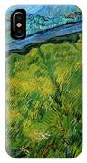 Enclosed Wheat Field With Rising Sun, By Vincent Van Gogh, 1889, IPhone Case