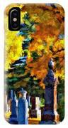 End Of The Road Impasto IPhone Case