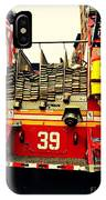 Engine 39 - New York City Fire Truck IPhone Case