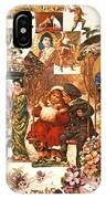 English Christmas Cards IPhone Case