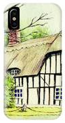 English Cottage In Cambridgshire IPhone Case