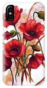 English Poppies 2 IPhone Case
