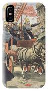 English Suffragettes Dressed As Firemen IPhone Case