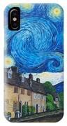 English Village In Van Gogh Style IPhone Case