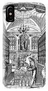 Engraving Of Pharmacy, Geiger, 1651 IPhone Case
