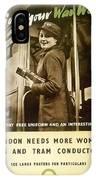 Enjoy Your War Work - London Underground, London Metro - Retro Travel Poster - Vintage Poster IPhone Case