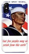 Enlist In Your Navy Today - Ww2 IPhone Case