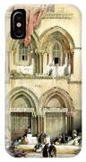 Entrance To Church Of The Holy Sepulchre Card IPhone Case