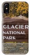 Entrance To Glacier IPhone Case