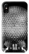 Epcot In Black And White IPhone Case