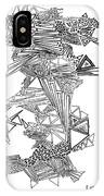 Epitaxy Ink Drawing By Regina Valluzzi IPhone Case