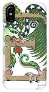 Epsilon Eagle In Green And Gold IPhone Case